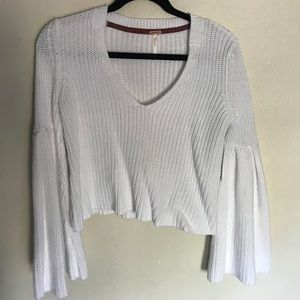 Free People Damsel Pull Over crop top